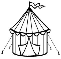 Free Circus Coloring Pages Color In This Picture Of A Tent And Others With Our Library Online
