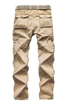 Menschwear Men's Multi Pocket Casual Cargo Trousers Sports Outdoors Military: Amazon.co.uk: Clothing