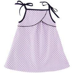 Lilac  #polka dots strap #dress #girls #clothing by @Eponime from @bibaloo