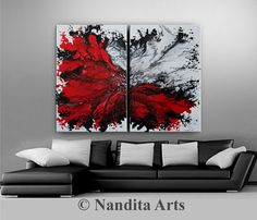 Wall Art Canvas Painting Extra Large Wall by ContemporaryArtDaily