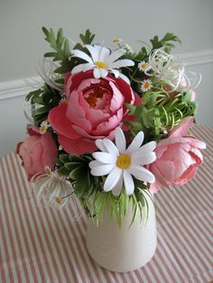 Peony Paper Wedding Bouquet by RosyPaperPosies on Etsy