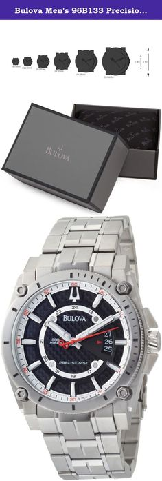 Bulova Men's 96B133 Precisionist Champlain Black Dial Titanium Bracelet Watch. Pushing the limits of Bulova engineering fashioning something new and wonderful the Precisionist series. Brushed and polished Titanium case measures 46mm diameter by 14mm thick. Sturdy link bracelet includes a push button hidden deployment clasp tastefully securing the watch to your wrist. Patterned black dial is well accented by luminous hands and hour markers. With a Quartz movement allowing for accuracy of...