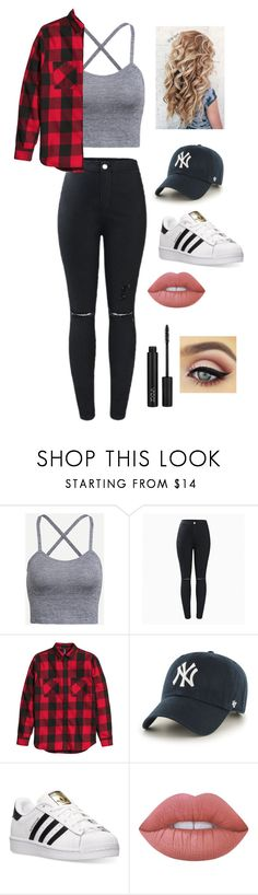 """Untitled #37"" by lemonitadr on Polyvore featuring '47 Brand, adidas and Lime Crime"