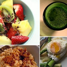 6 Ways to Detox at Breakfast: Drink Green Tea; Grab a bowl of Oatmeal; Start the day with a side of steamed asparagus, lean protein, and a poached egg; Green Smoothie or Green Juice; Add Chia Seeds; Make a Fruit Salad