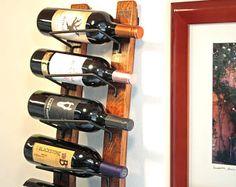 Wood Wine Rack  Rustic Wine Rack  3 bottle Wine Holder