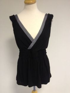 Anthropologie top black - size L Neck Wrap, Black Tops, Anthropologie, V Neck, Stuff To Buy, Shirts, Ebay, Shopping, Clothes