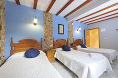 Habitación triple con 3 camas de 1,05, es perfecta para amigos que comparten habitación.