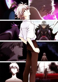 I'm pretty sure that kaworu is my second most favorite anime character, but he comes very close to being first favorite but levi overpowers him by a little.. Hah