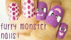 Cute Furry Monsters - Halloween Nail Art