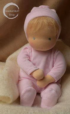 Baby Waldorf Doll by Waldorfdollshop Doll Sewing Patterns, Sewing Dolls, Doll Crafts, Diy Doll, Doll Toys, Baby Dolls, Dolls Dolls, Homemade Dolls, Little Pet Shop