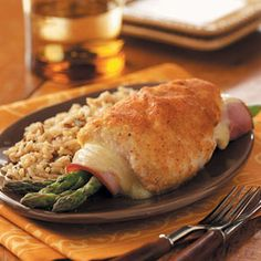 Asparagus-Stuffed Chicken Rolls Recipe from Taste of Home