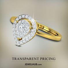 JEWEL HUB - Transparent Pricing http://www.jewelhub.com/diamond-rings.html