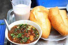 Vietnamese beef stew, you dip pieces of warm baguette in the broth...OMG--heaven