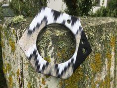 Polymer clay, bangle, hexagon, Premo, black and white Bargello, Polymer Clay, Bangles, Black And White, Bracelets, Black N White, Black White, Bracelet, Cuff Bracelets