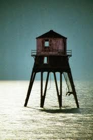 Low lighthouse, Dovercourt, by moonlight 1984