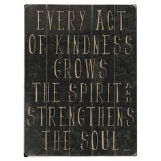 Every Act of Kindness Wall Art