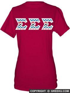 Sigma Sigma Sigma Unisex Shirt with Premium Fabric