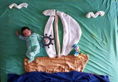| You'll Never Guess the Simple Household Items Used to Create These Amazing Baby Photos | POPSUGAR Moms Photo 16
