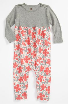 Tea Collection 'Mikko' Floral Romper (Infant) available at #Nordstrom