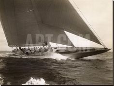 J Class Sailboat, 1934 Stretched Canvas Print by Edwin Levick at Art.com