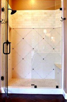 Master bath shower tile design