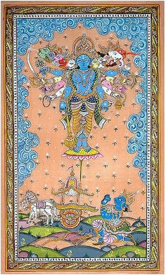 Virat Rupa of Sri Krishna - Pattachitra Painting | Flickr - Photo Sharing!