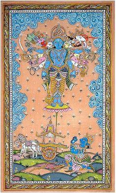Virat Rupa of Sri Krishna - Pattachitra Painting | Flickr - Photo Sharing!