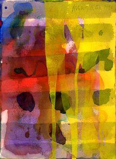 Gerhard Richter, Sans titre, (15.3.1990), 31 cm x 23 cm, Aquarelle sur papier