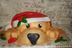 don't you just love Golden Retrievers! I do to so that is why I made a Golden cake