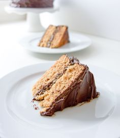 Graham Cracker Cake with Chocoalte Frosting5