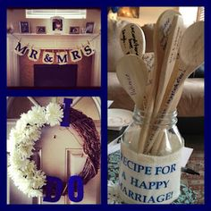 my best friend's wedding (shower)!  How-to's on making a beautiful and inexpensive wreath, fun games, and an easy burlap banner!!! LOVE is in the AIR!