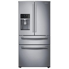 Samsung 28.15-cu ft 4-Door French Door Refrigerator with Ice Maker (Stainless Steel) ENERGY STAR #SamsungHomeAppliances