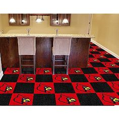 University of Louisville Carpet Tiles, I personally would have picked different color walls but that's just me ;-)