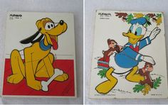 Disney Puzzles Vintage Donald Duck or Pluto Nursery by HobbitHouse