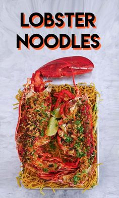 The BEST Lobster Noodles Recipe & Video - Seonkyoung Longest Lobster Recipes, Seafood Recipes, Dinner Recipes, Cooking Recipes, Atkins Recipes, Tofu, Garlic Noodles Recipe, Asian Recipes, Ethnic Recipes