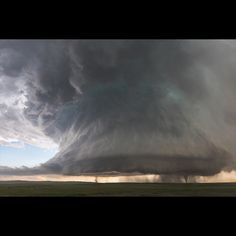 Storm of a lifetime. Sister tornados under a massive supercell near Simla, Colorado #stormchasing