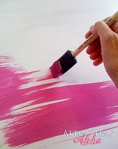 make your own chalkboard paint, any color...easy