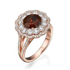 Diamond Museum 14K Pinkgoldring - 6,50 gr