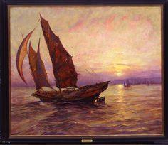 Frank Vining Smith - China Cross the Bay , 1927