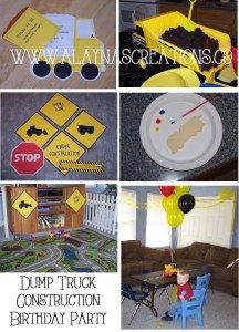Dump Truck Construction Birthday Party Toddler