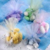 I'm making these w pink and brown tulle w owl tags filled w Hershey kisses for dianna's  favors :)