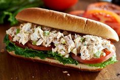 Looking for tuna salad sandwiches with a hearty appeal? Get out the submarine rolls and a stalk of celery, and let's get started - you're going to love these Tuna Salad Sub Sandwiches!