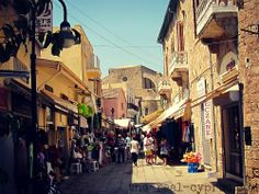 Side street in the town walking distance from the port area and St Nicholas Cathedral ~ Cyprus