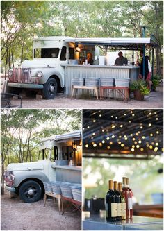 Food Truck // DIY Colorado Wedding by Sarah Box Photography via One Hitched Lane