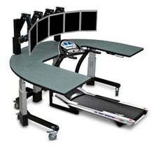 Work console with treadmill. heck yes! Treadmill Desk, Treadmill Reviews, Good Treadmills, Work Station Desk, Best Desk, Led Desk Lamp, Time Management, Drafting Desk, Home Office