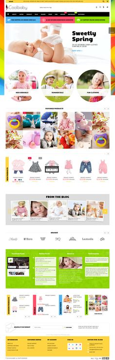 Coolbaby - Fashion eCommerce HTML theme comes with 12 amazing layouts #website #kids #children