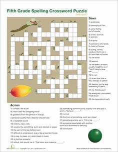 3rd Grade Vocabulary Crossword Crossword puzzles