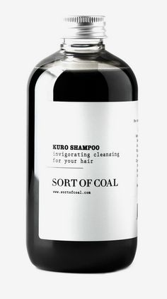 Kuro Shampoo packaging for Sort of Coal Cool Packaging, Bottle Packaging, Beauty Packaging, Cosmetic Packaging, Brand Packaging, Product Packaging, Label Design, Web Design, Logo Design