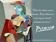 Ya lo decía Picasso. Una semana más, seguimos expresando sensaciones, emociones y nuevas ideas. ¡Buenos días! :) http://www.limagemarketing.es/servicios/ L'image Marketing   Agencia de Publicidad y Comunicación en Sevilla