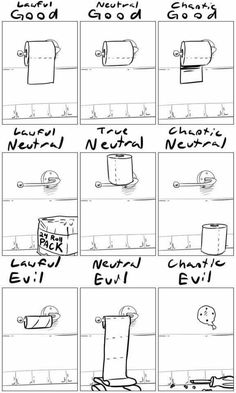 Image result for d&d alignment toilet paper